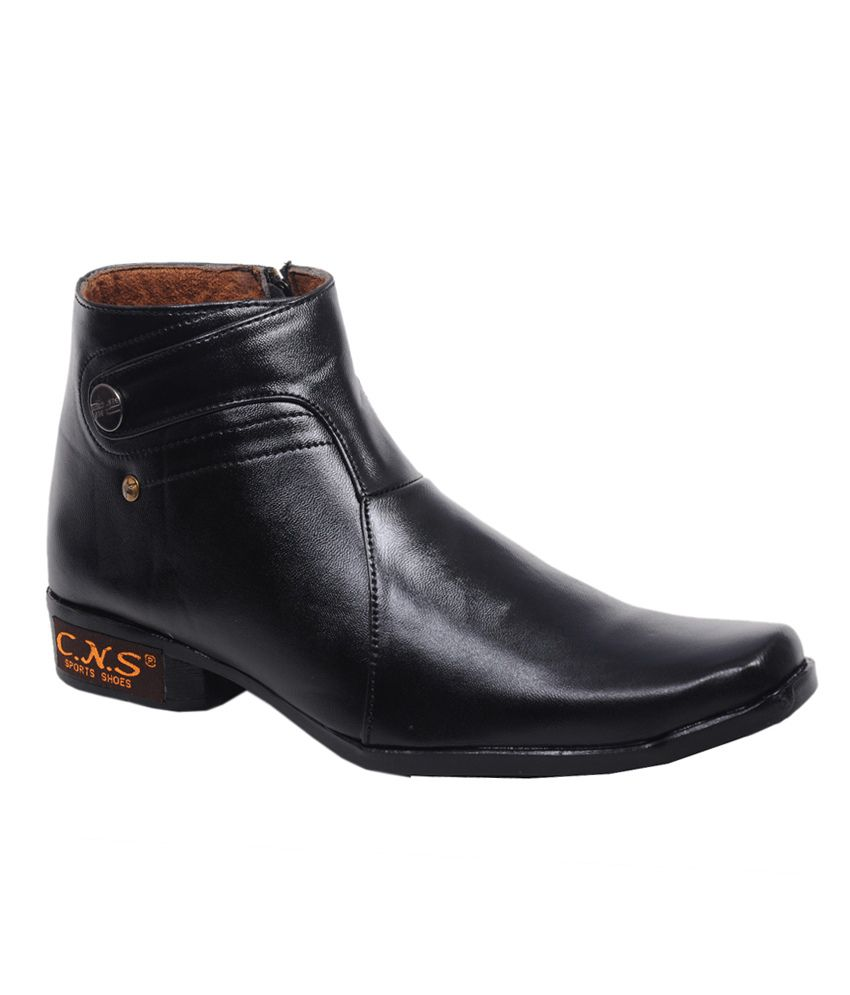 Cns Shoes Black Synthetic Leather Boots