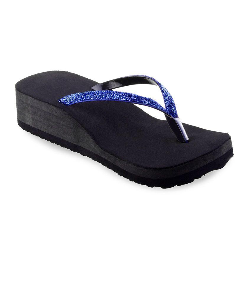 Shoe Lab Faux Leather Sandal For Women - Blue