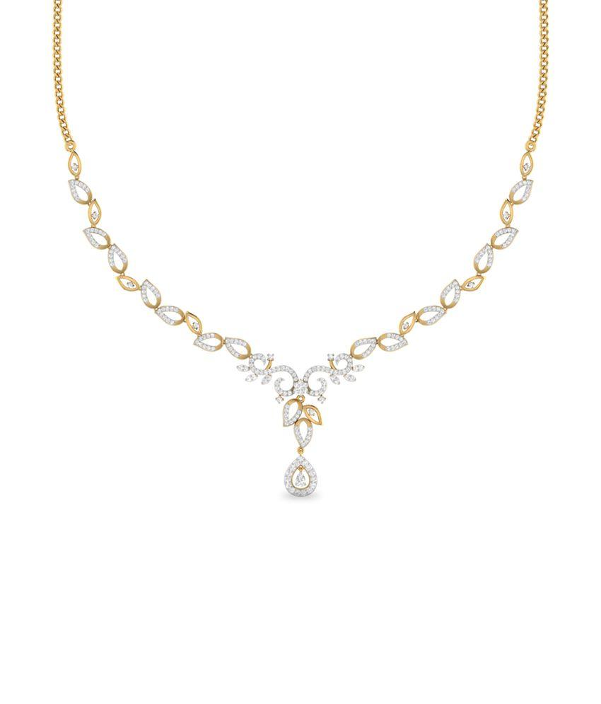 WearYourShine PC Jeweller 18KT Gold The Ashia Diamond Necklace