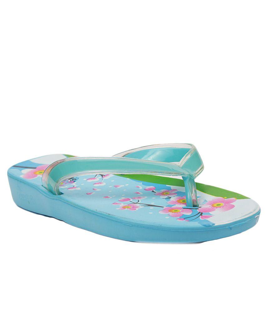 Aalishan Blue Eva Flat Slippers