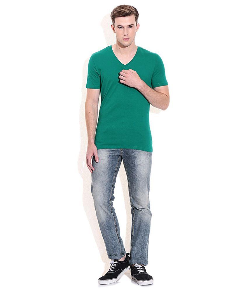 Goyal Trading Green Cotton T Shirt