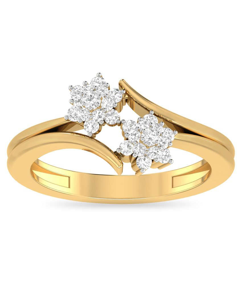 WearYourShine PC Jeweller 18KT Gold The Ailisa Diamond Ring: Buy ...