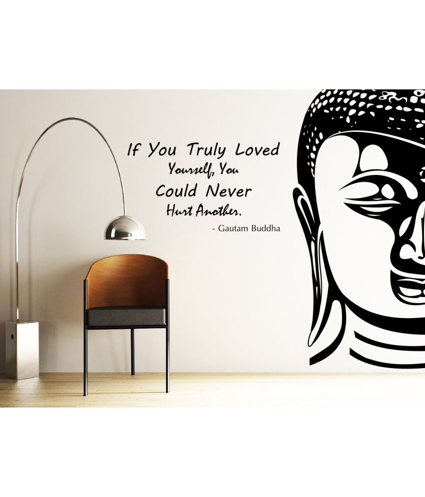 Decor Kafe Decal Style Buddha Wall Sticker Buy Decor Kafe Decal