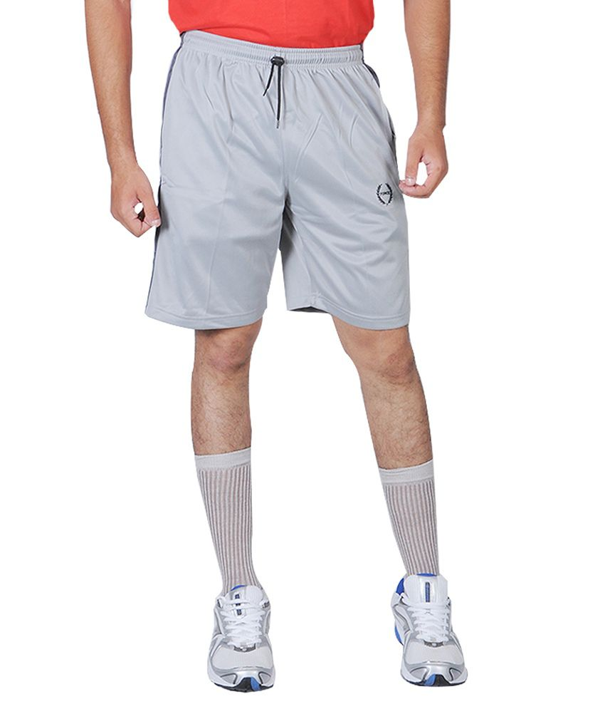 Force LIGHT GREY Super Poly Three-Forth Trouser For Men