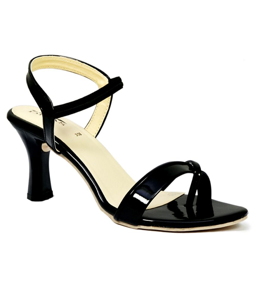 28cda21e23c8 New Divas Black Small Back Strap Medium Heel Sandals available at SnapDeal  for Rs.499