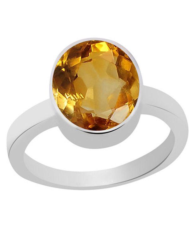 55Carat Certified Citrine Yellow Topaz Sliver Ring