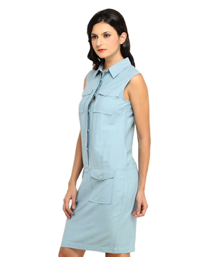 2abcef9d9e39 Ladybug Blue Linen Dresses - Buy Ladybug Blue Linen Dresses Online at Best  Prices in India on Snapdeal
