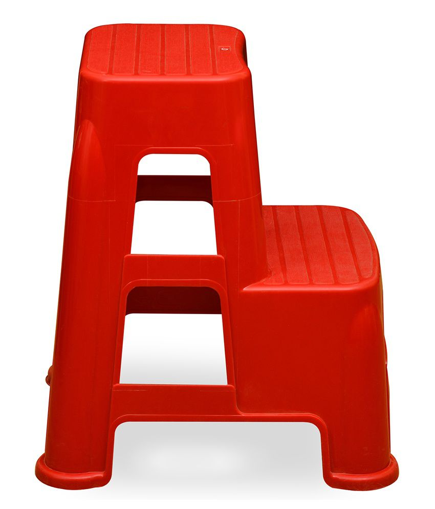 Nilkamal plastic chair -  Nilkamal Stool Stl21 Bright Red