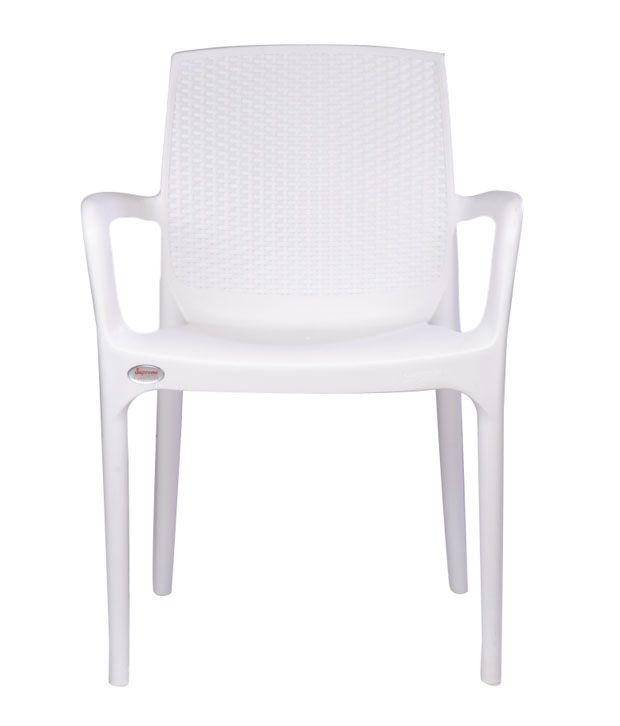 Supreme Plastic Chair In White Buy Supreme Plastic Chair In White Online At Best Prices In