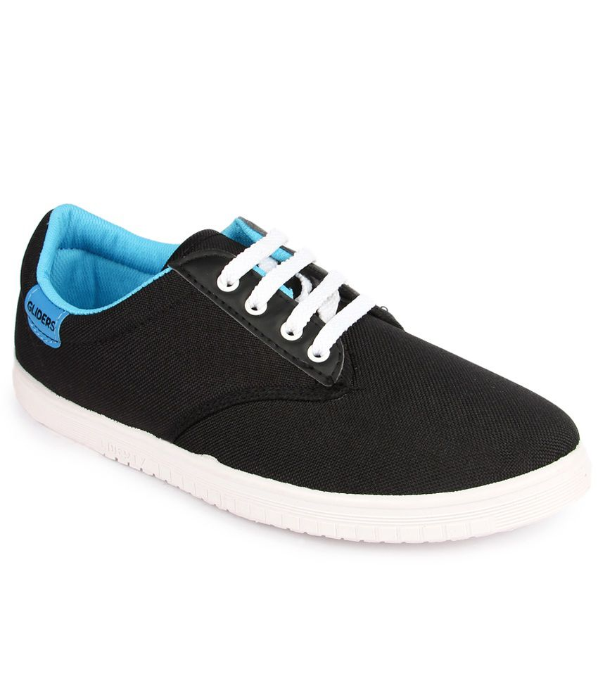 Gliders Black Casual Shoes