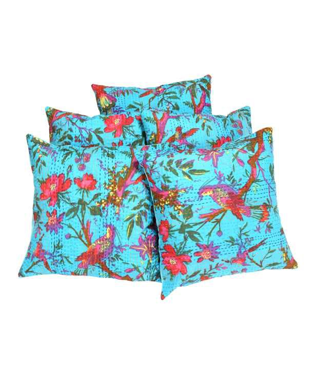 Rajrang Blue Natural Cotton Cushion Covers