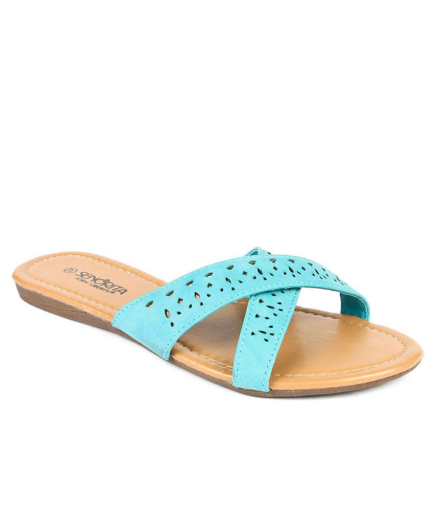 Senorita Blue Slippers