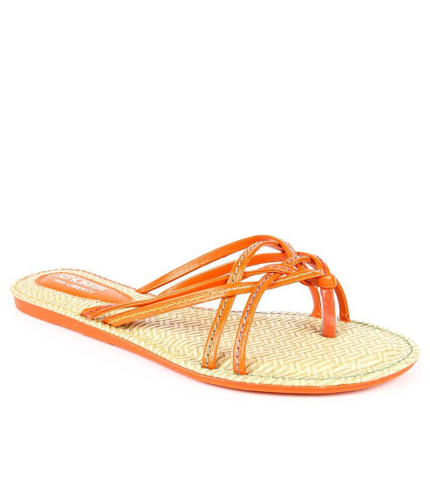 Senorita Orange Slippers