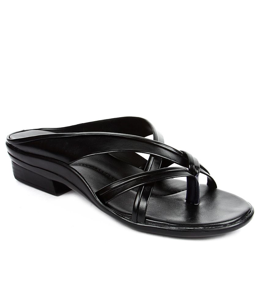 Tiptopp Black Slippers