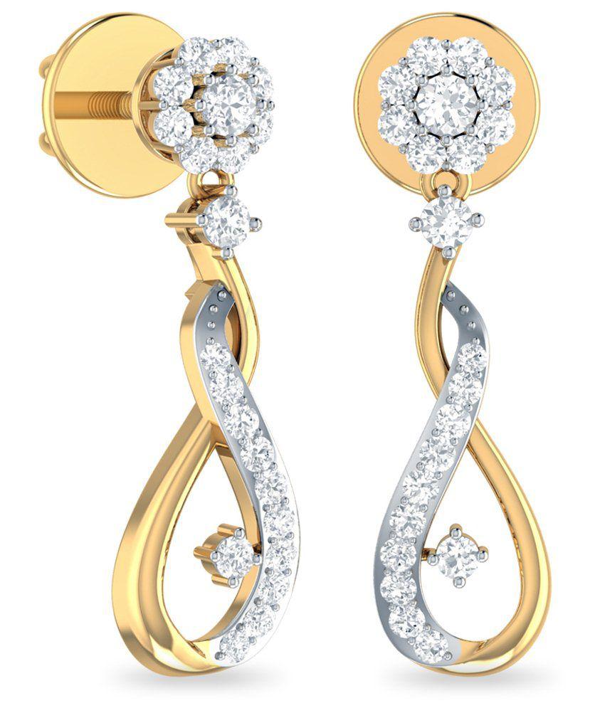 WearYourShine by PC Jeweller 18kt Gold Stud Earrings