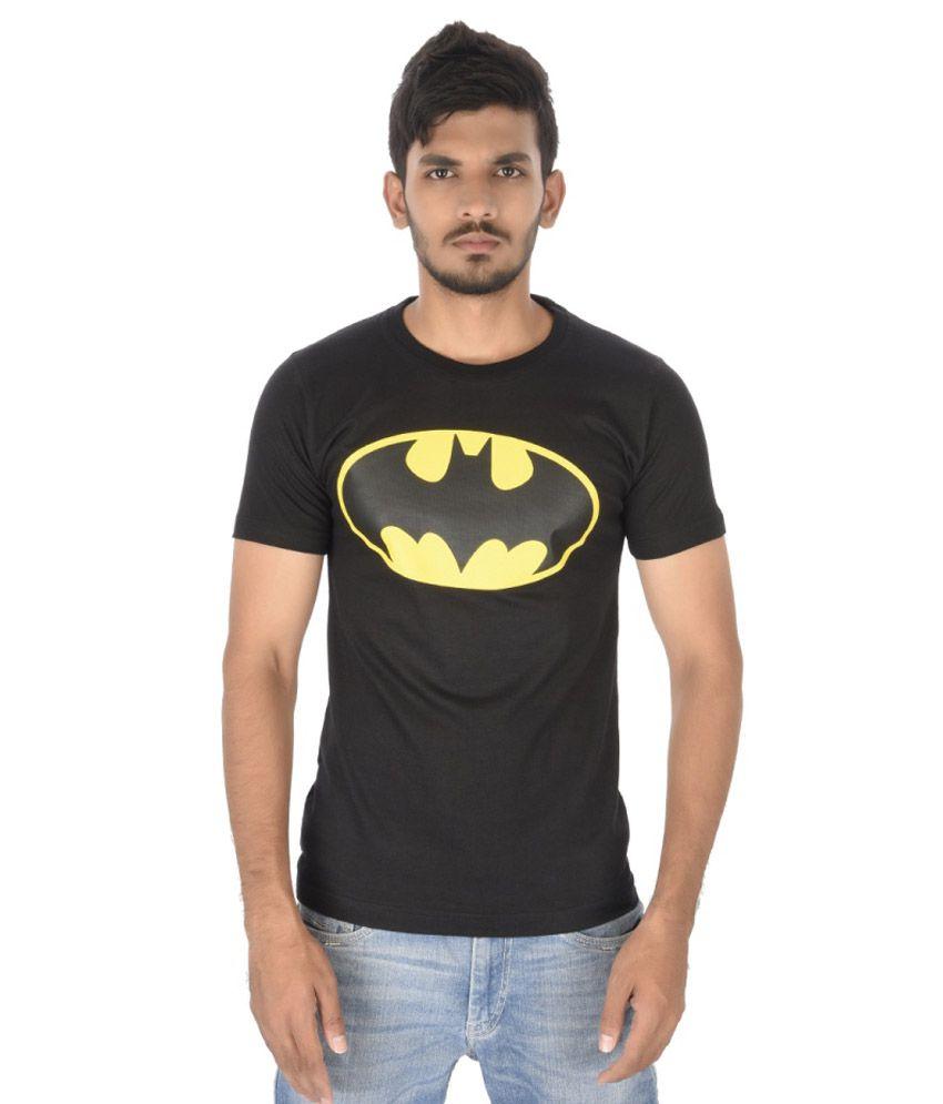 Black t shirt for man - Attitude Black Cotton Batman Round Neck T Shirt For Men