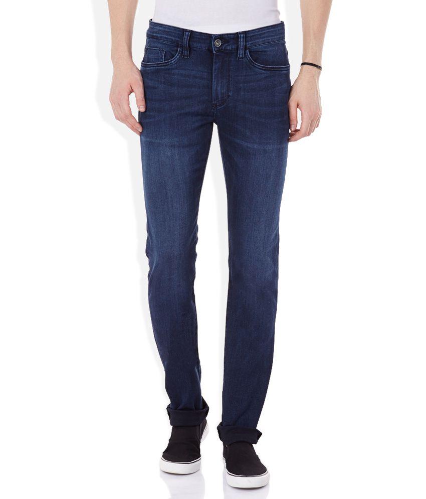 Celio Blue Faded Jeans