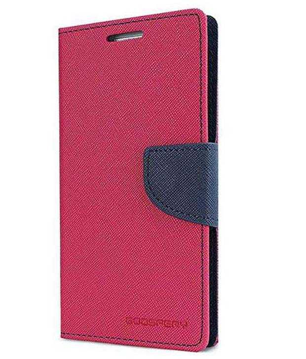 Uni Mobile Care Flip Wallet Cover For Samsung Galaxy Note 3 Neo - Pink