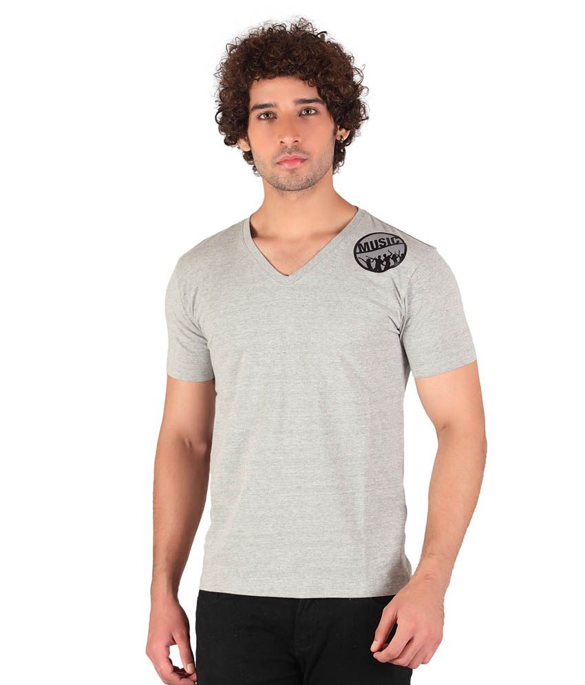 Anger Beast Designer Slim Fit V Neck Tshirt for Men