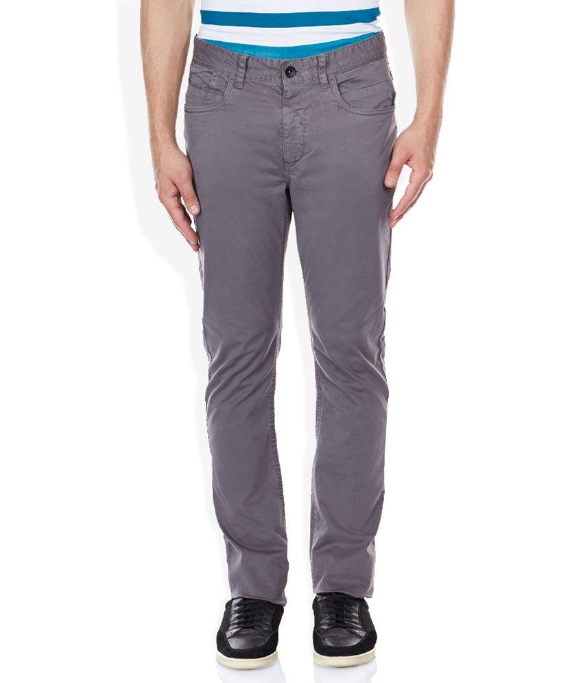 Breakbounce Gray Slim Fit Trousers