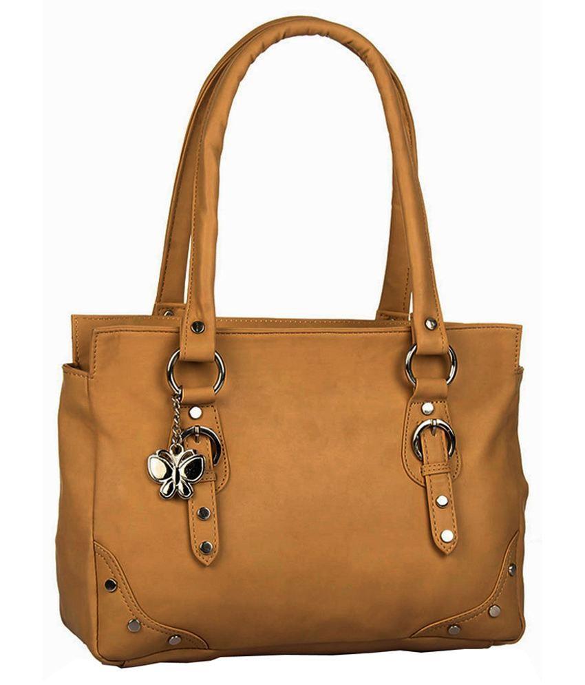 Butterflies BNS0503 Beige Shoulder Bags