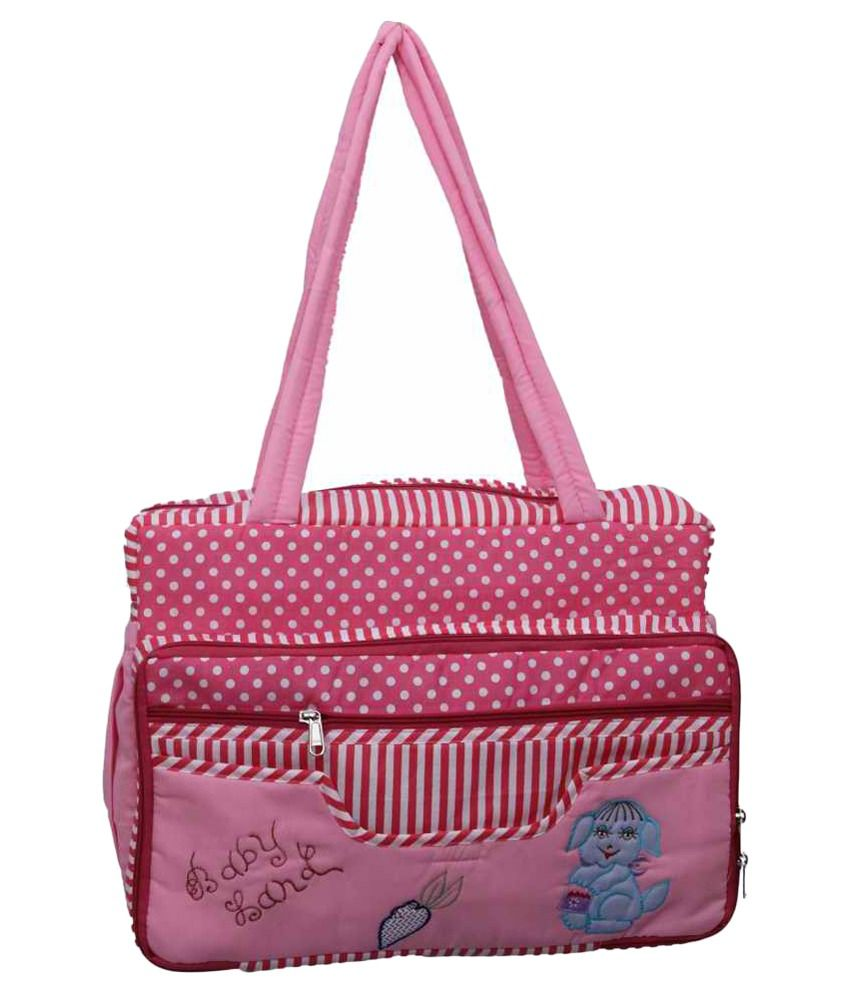 Kuber Industries Designer Pink Baby Bag