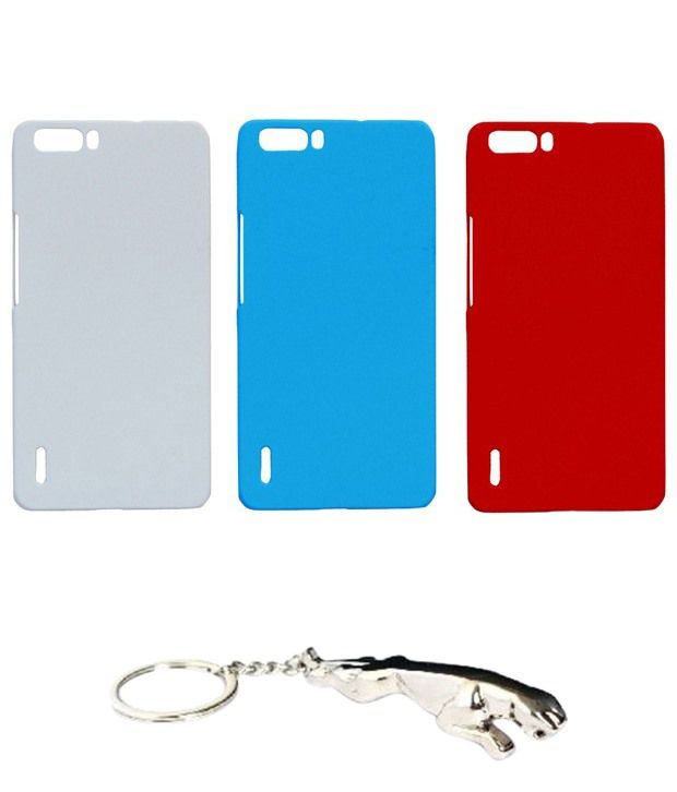 Winsome Deal Alluring Multicolour Combo of Keychain & 3 Huawei Honor Holly6 Back Covers.