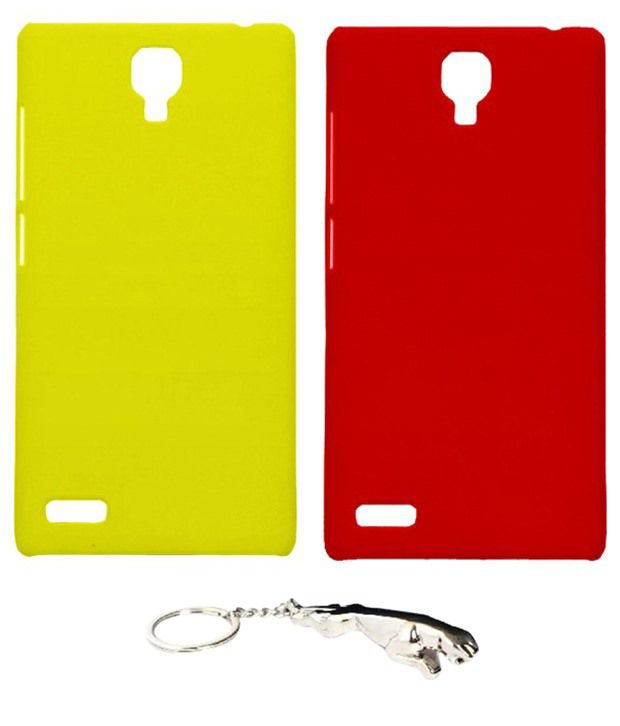 Winsome Deal Fabulous Multicolour Combo of Keychain & 2 Xiaomi Redmi Note Back Covers