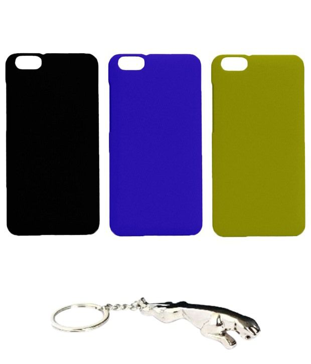 Winsome Deal Fantastic Multicolour Combo of Keychain & 3 Huawei Honor 4X Back Covers