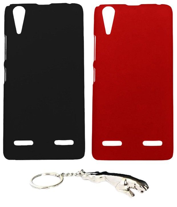 Winsome Deal Multicolour Combo of Keychain & 2 Lenovo K3 A6000 Back Covers