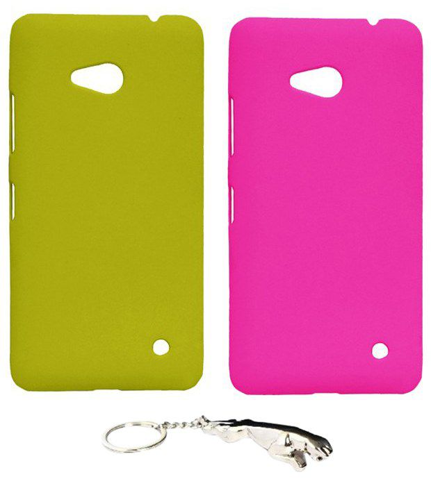 Winsome Deal Multicolour Combo of Keychain & 2 Nokia Lumia 640 Back Covers