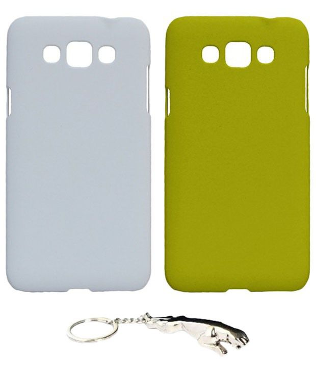 Winsome Deal Multicolour Combo of Keychain & 2 Samsung Galaxy Grand 3 SM7200 Back Covers