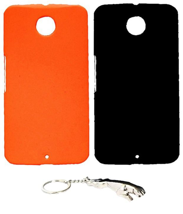 Winsome Deal Multicolour Combo of Keychain & 2 Motorola Google Nexus 6 Back Covers