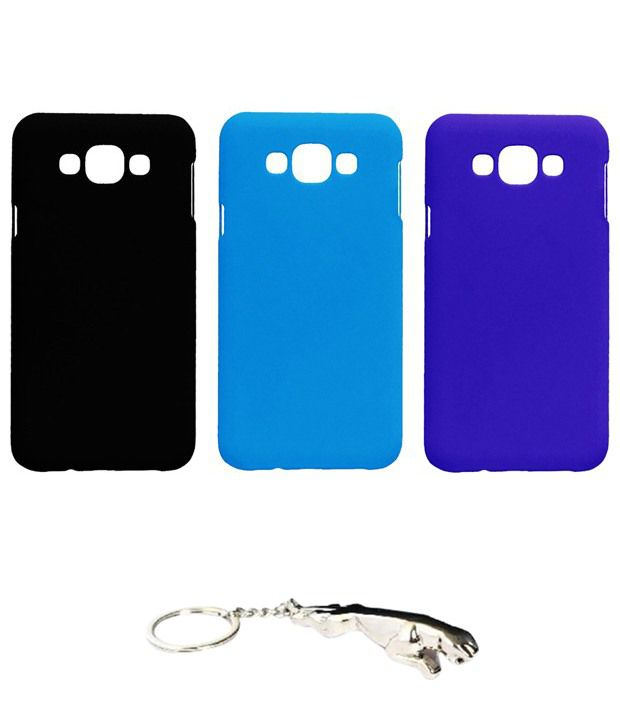 Winsome Deal Multicolour Combo of Keychain & 3 Samsung Galaxy E7 Back Covers