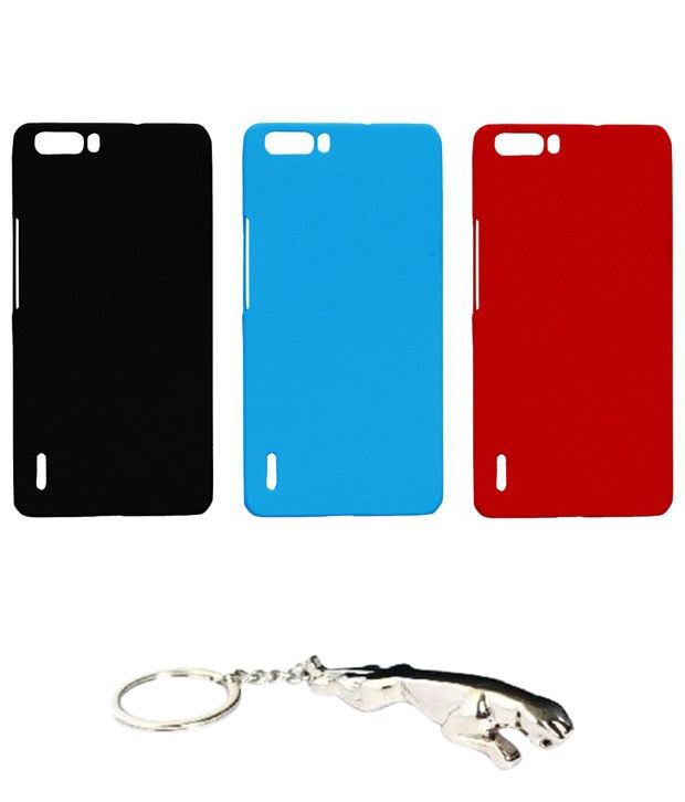 Winsome Deal Multicolour Combo of Keychain & 3 Huawei Honor Holly6 Back Covers