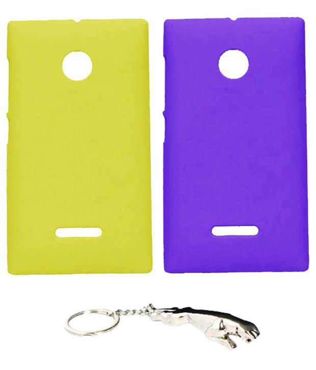Winsome Deal Must Have Multicolour Combo of Keychain & 2 Nokia Lumia 532 Back Covers