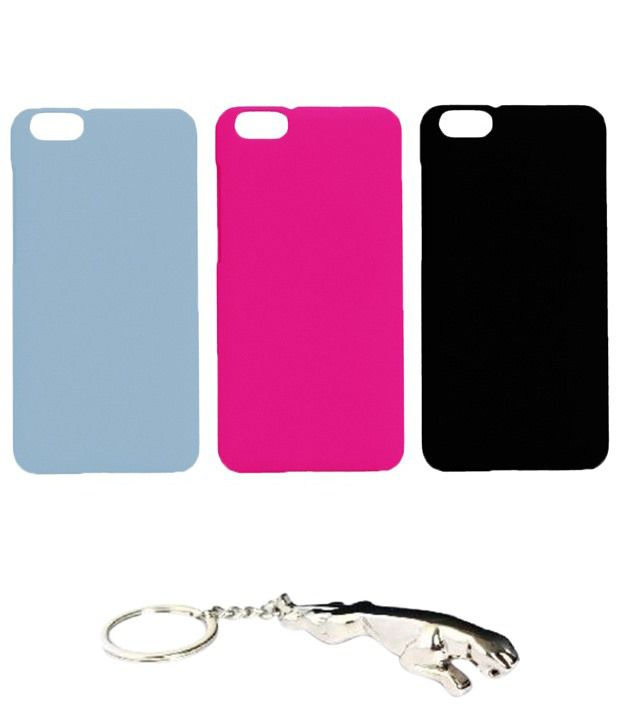 Winsome Deal Outstanding Multicolour Combo of Keychain & 3 Huawei Honor 4X Back Covers