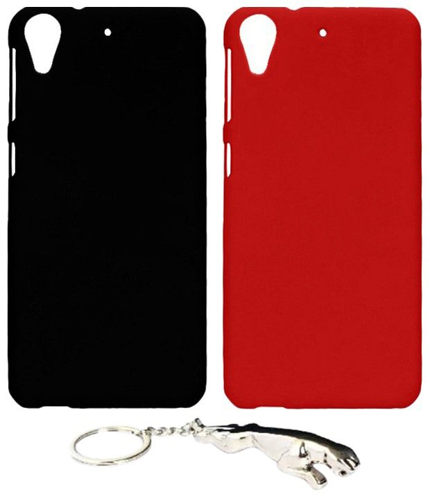 Winsome Deal Wonderful Multicolour Combo of Keychain & 2 HTC Desire 626 Back Covers