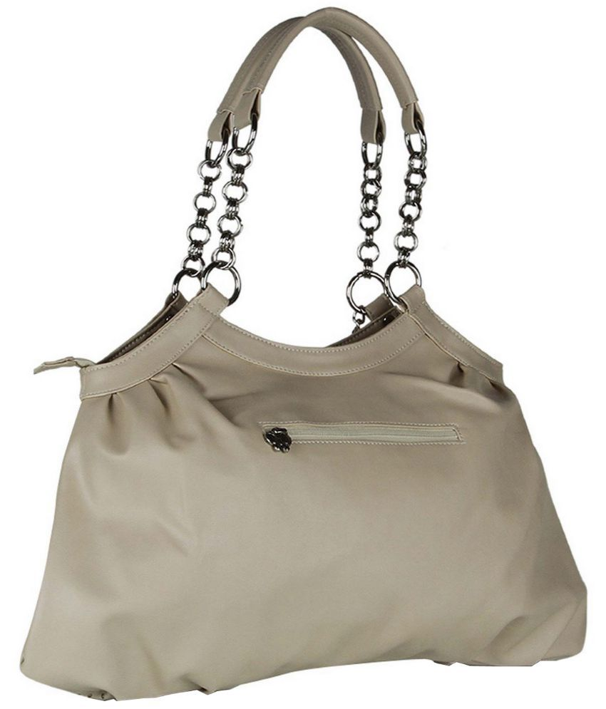 Butterflies Beige Faux Leather Shoulder Bag - Buy Butterflies ...