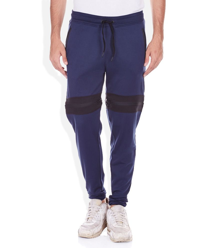 Jack & Jones Blue Flat Trouser