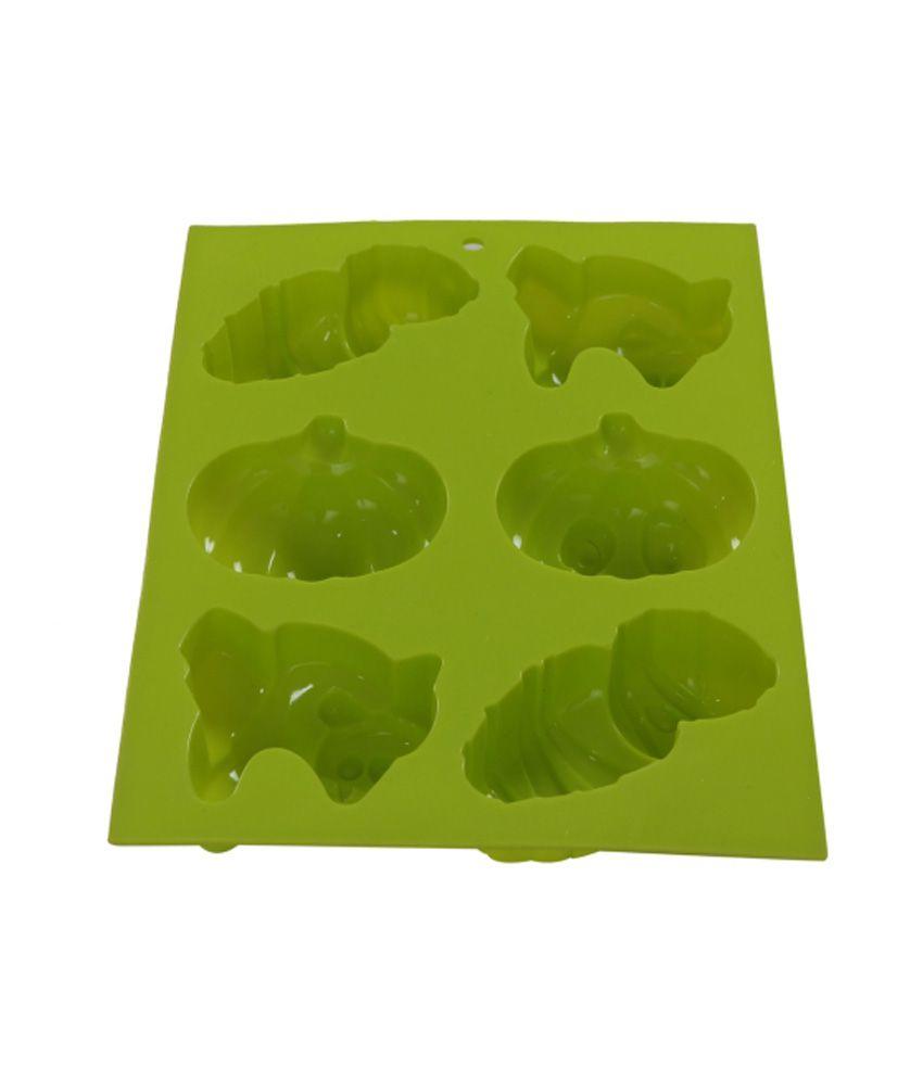 Fabrilla Green Silicone Cake Mould Bakeware
