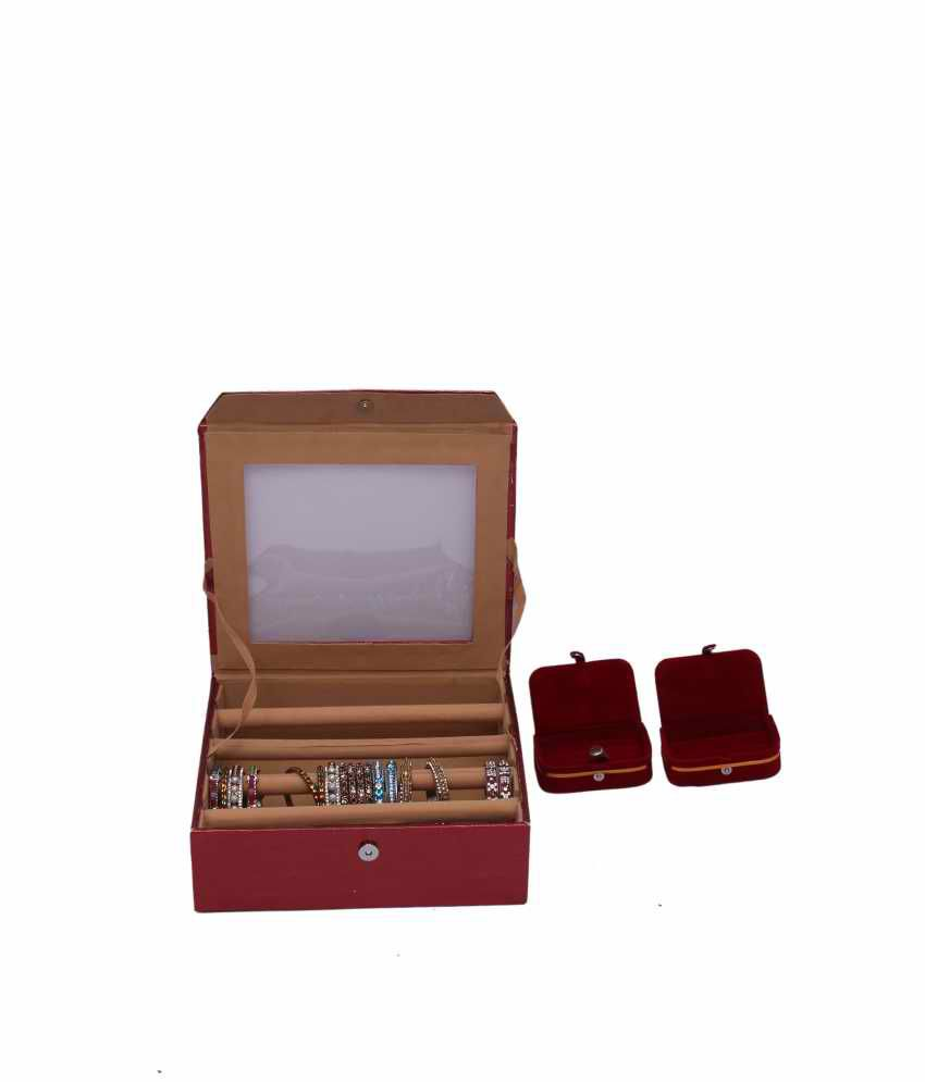 Kuber Industries Bangle Four Roll & Ring & Earing Box