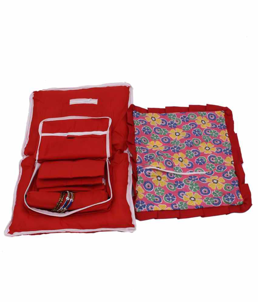 Kuber Industries Jewellery Kit With Attached Pillow