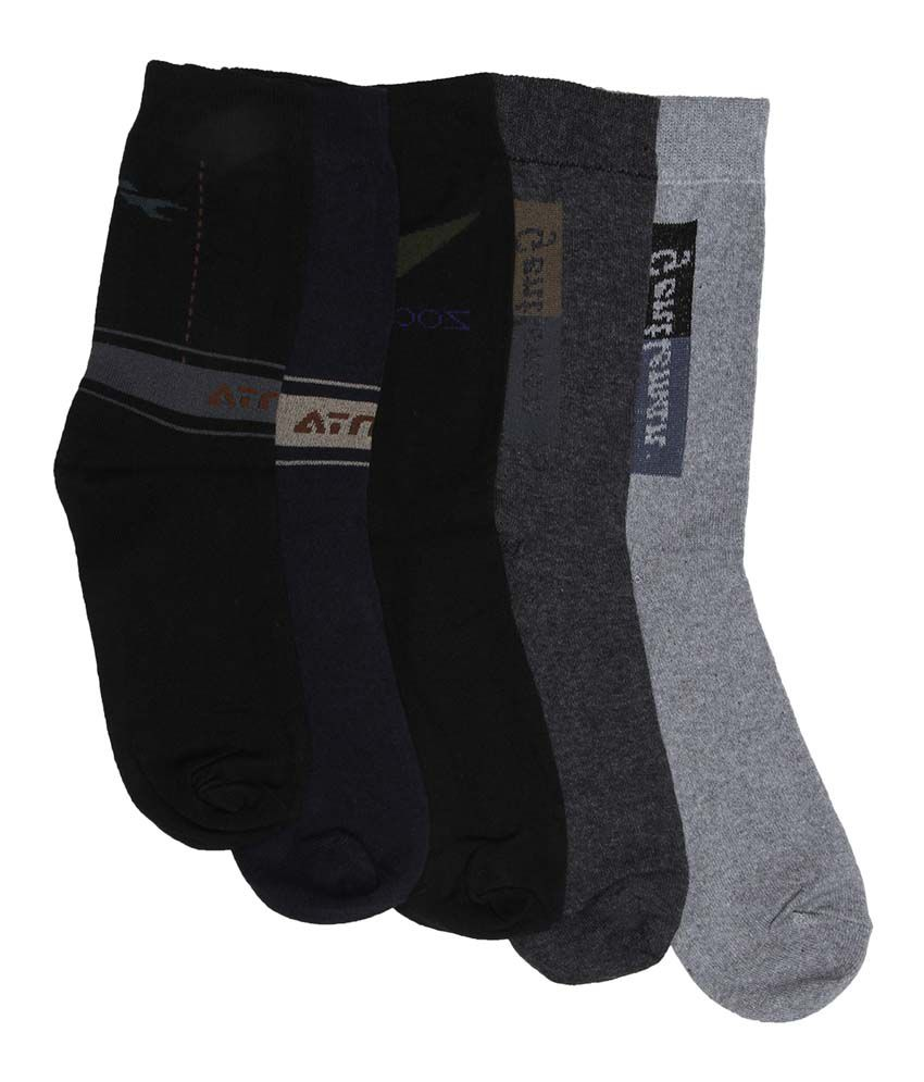 Mikado Multicolor Cotton Full Length Socks - Pack Of 5