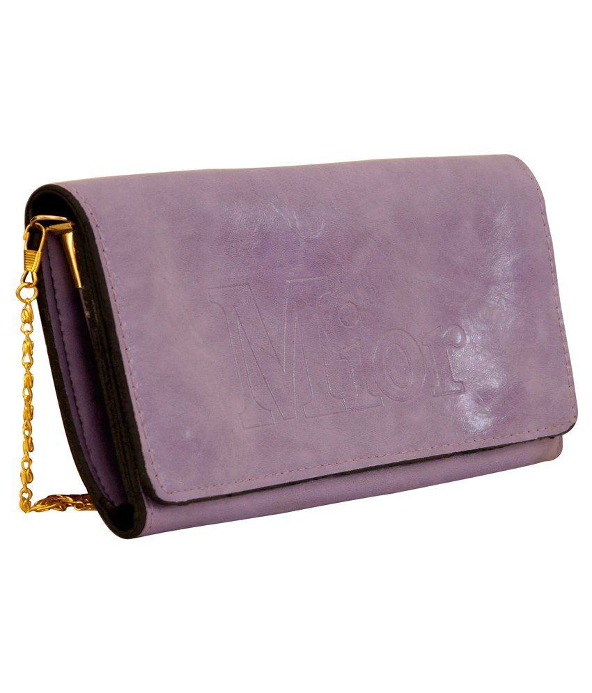 Parv Collections P.U. Sling Bag-Purple
