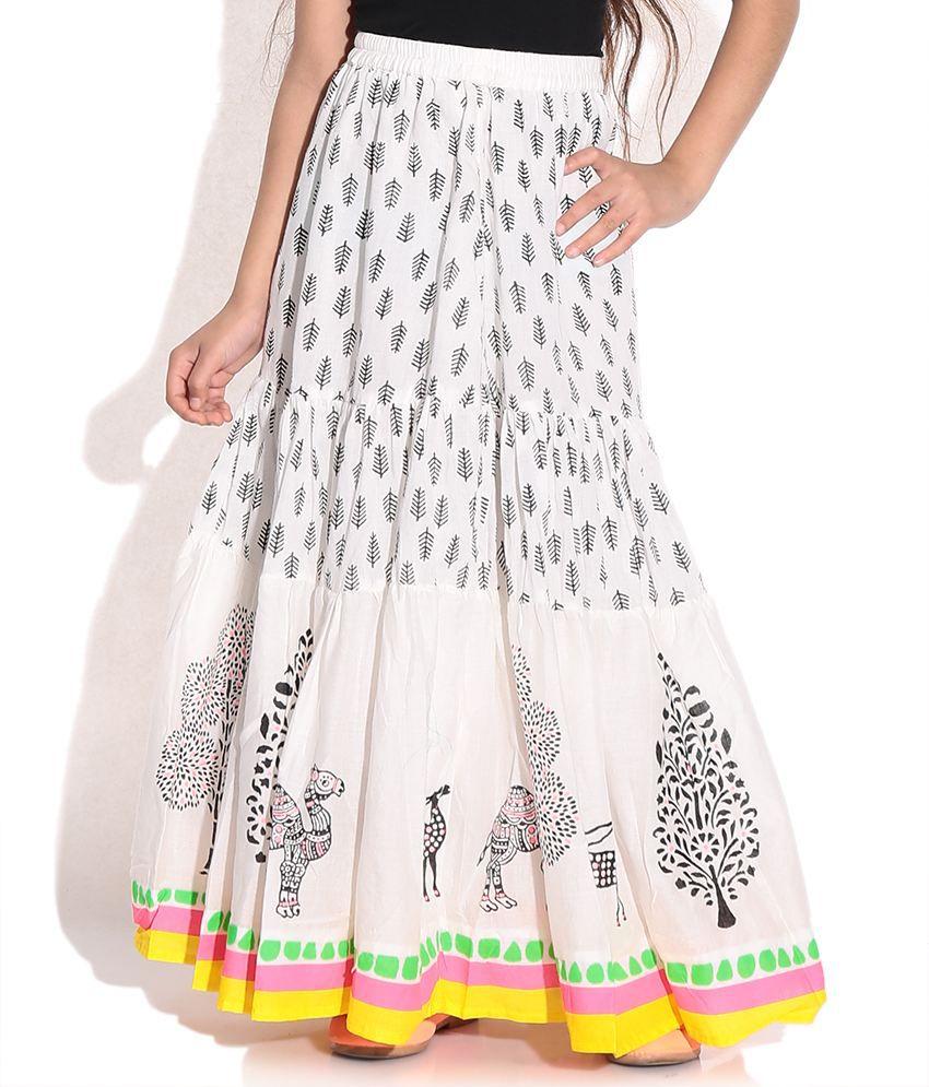 Biba White Skirt For Kids