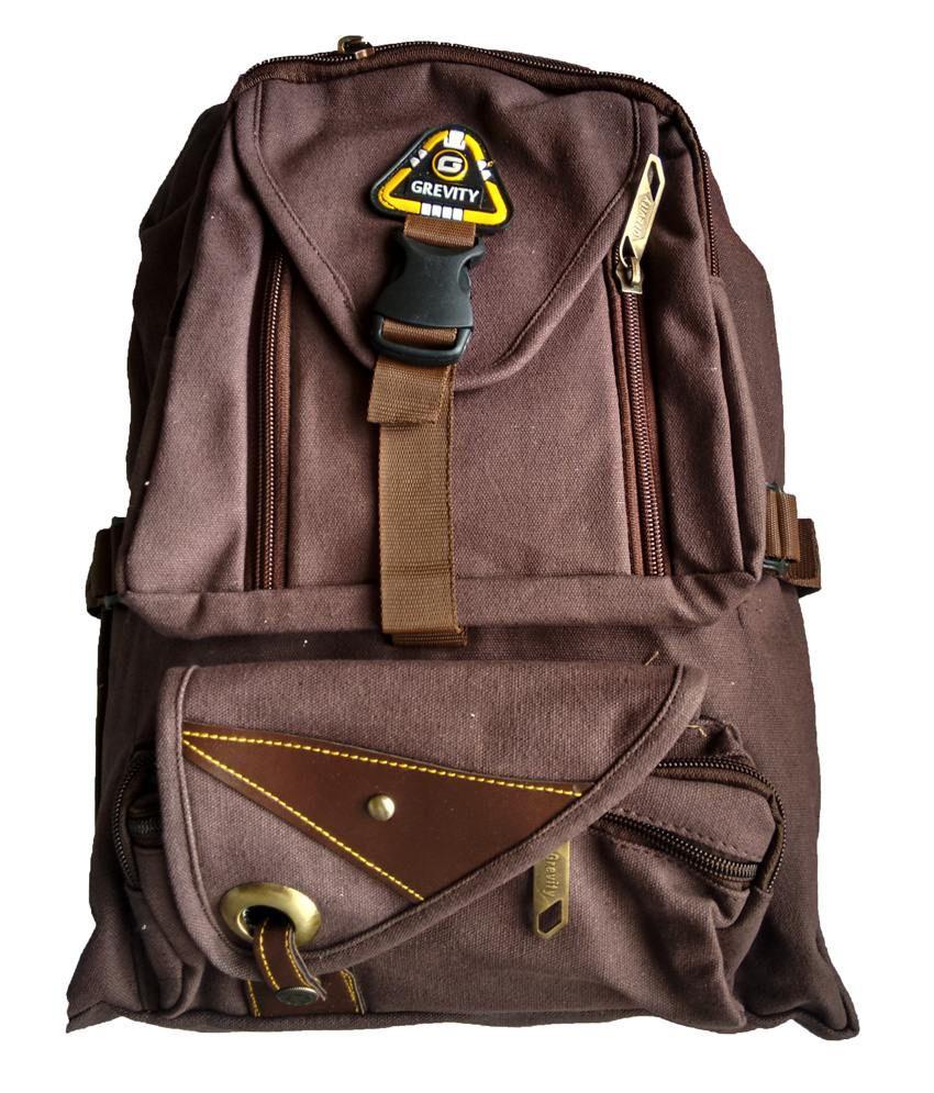 Grevity Brown Kids School Bag