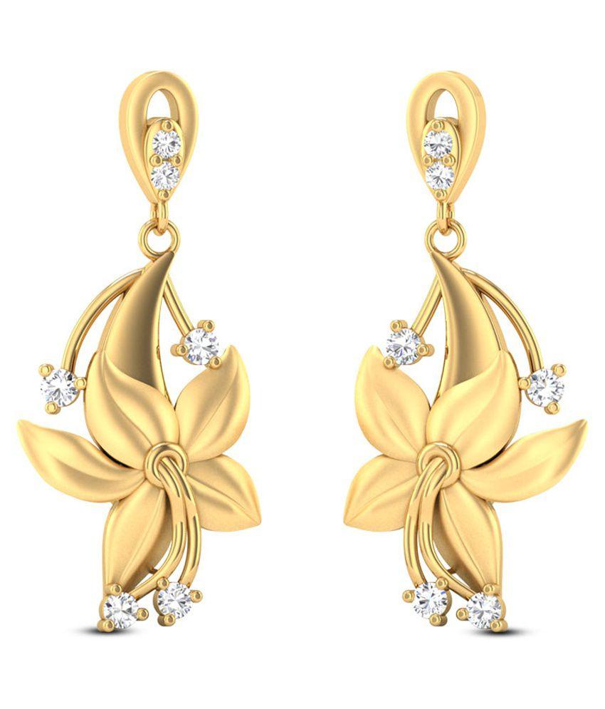 Zaamor Diamonds 22Kt Gold Drop Earrings