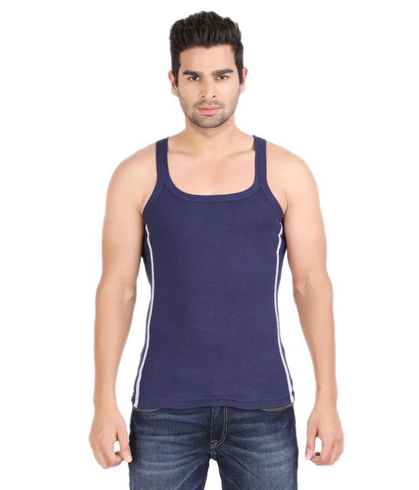 Zippy Navy Cotton Vest