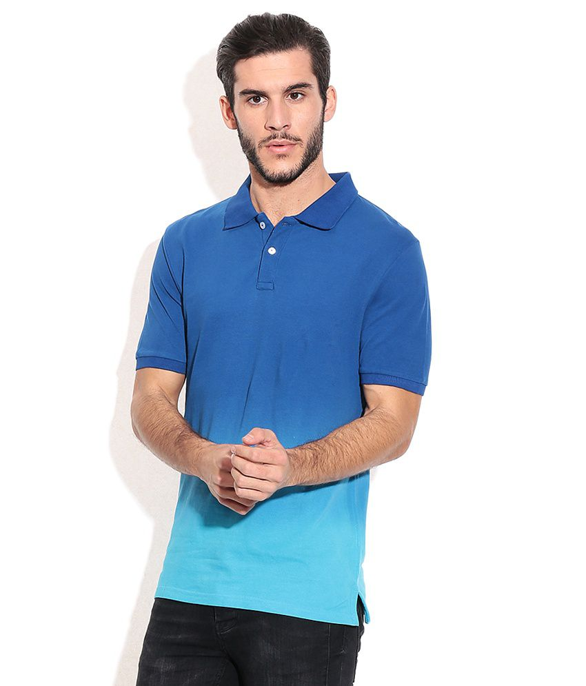 Celio Blue Cotton T-shirt